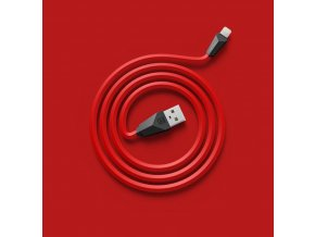 Datový Kabel s Lightning konektorem Remax Alien Red pro iPhone 5/5S/6/6 Plus