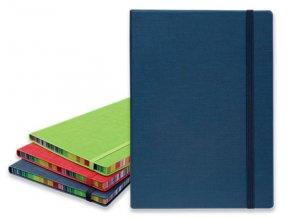 Poznámkový zápisník s gumičkou COLOR NOTE I 90x140 mm, tmavě modrý