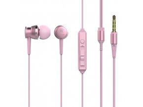 Sluchátka Baseus Lark Wired s ovládaní hlasitosti a mikrofonem, pink