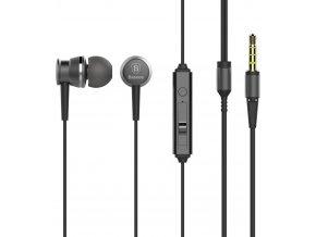 Sluchátka Baseus Lark Wired s ovládaní hlasitosti a mikrofonem, black