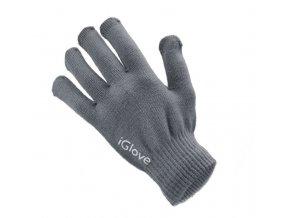 Pánské rukavice pro kapacitní displeje Winter Smartphone Gloves, šedé