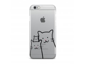 Kryt Clearo Cat Family pro iPhone 7/8