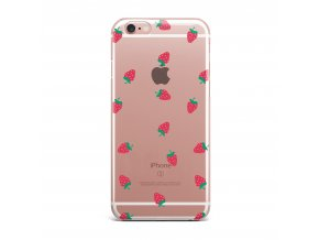 Kryt Clearo Strawberry pro iPhone 5/5S/SE