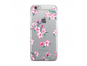 Kryt Clearo Pink Blossom pro iPhone 5/5S/SE