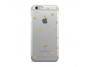 Kryt Clearo Gold Hearts pro iPhone 5/5S/SE