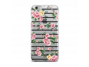 Kryt Clearo Stripe Roses pro iPhone 5/5S/SE