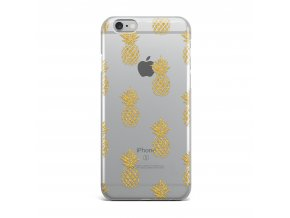 Kryt Clearo Gold Pineapple pro iPhone 6/6S