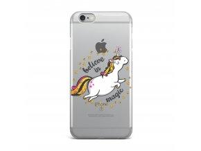Kryt Clearo Gold Unicorn pro iPhone 6/6S