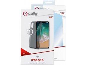 Kryt TPU CELLY Ultrathin pro Apple iPhone X, černé