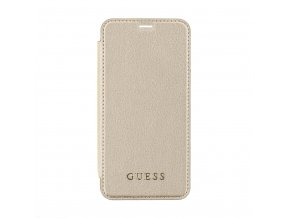Pouzdro Guess IriDescent Book Gold pro iPhone X