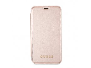 Pouzdro Guess IriDescent Book Rose pro iPhone X