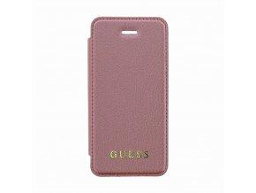 GUFLBKPSEIGLTRG Guess Iridescent Book Pouzdro Pink pro iPhone 5:5S:SE