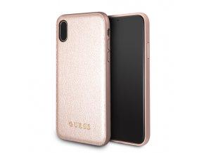 GUHCPXIGLRG Guess Iridescent Zadní Kryt Rose Gold pro iPhone X