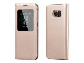 Pouzdro HOCO Visible Leather - Gold pro Samsung Galaxy S7