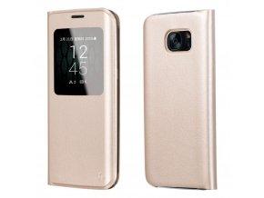 Pouzdro HOCO Visible Leather - Gold pro Samsung Galaxy S7 EDGE