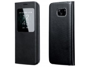 Pouzdro HOCO Visible Leather - Black pro Samsung Galaxy S7 EDGE