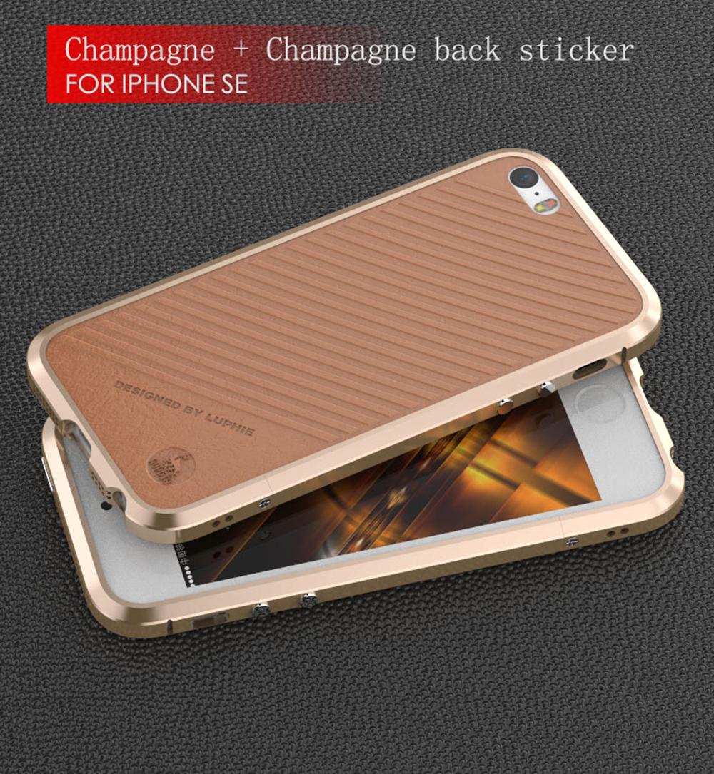 Luphie Bumper Blade Sword + leather sticker - pro iPhone 5/5S/SE Barva: Zlatý