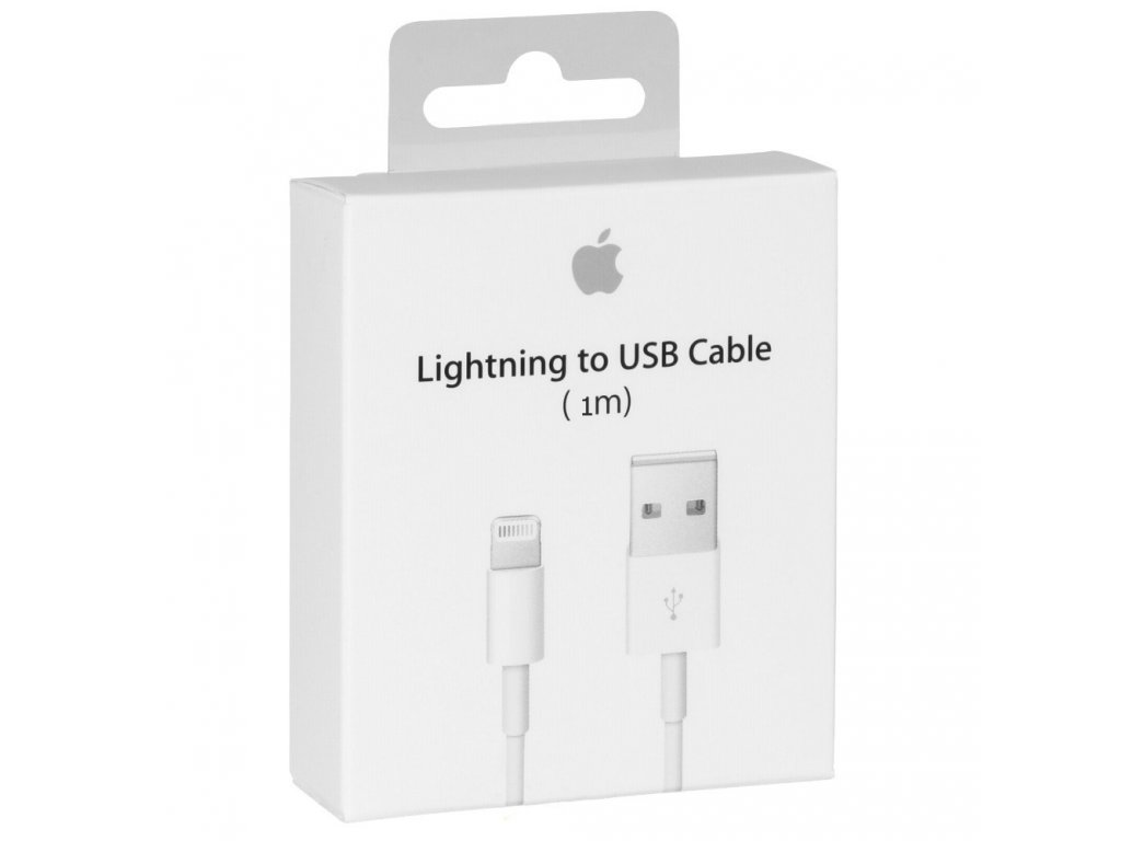 Originální USB datový Lightning kabel Apple MD818 (bulk) pro Apple iPhone 5/5S/5C/SE a 6/6S/6 PLUS/6S PLUS/7 a iPad