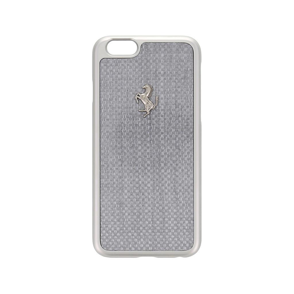 Kryt Ferrari GT Carbon Aluminium Silver pro iPhone 6/6s