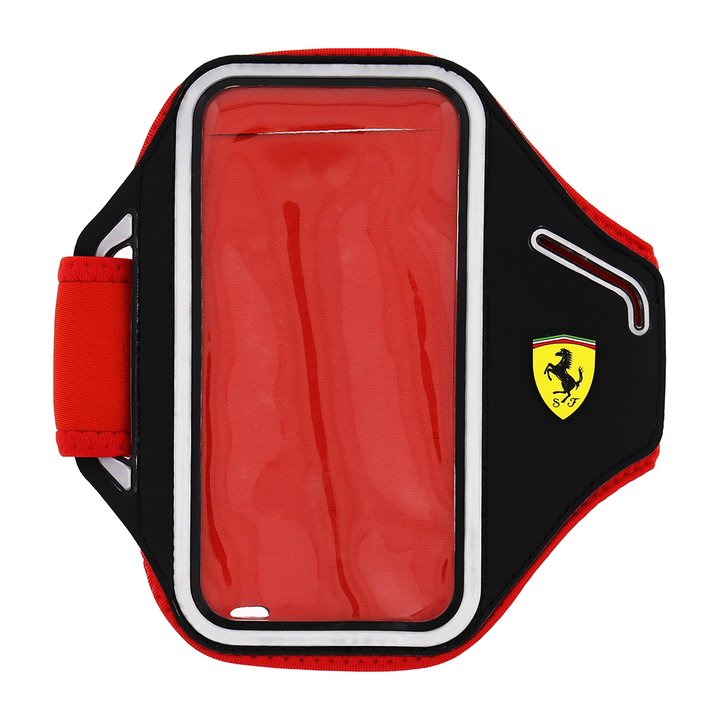 Sportovní pouzdro Ferrari Neoprene Armband Black pro iPhone 5/5S/SE a 6/6s