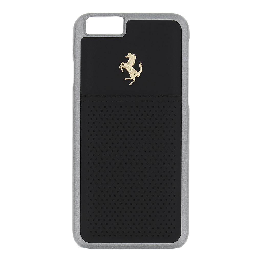 Kryt Ferrari GTB Leather Hard Case Black pro iPhone 6/6S