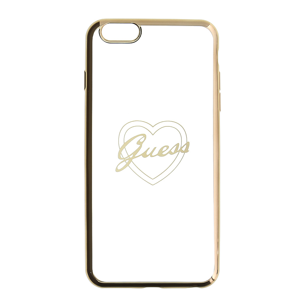 Kryt Guess Signature TPU Heart Gold pro iPhone 6/6S Plus