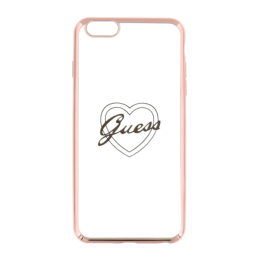 Kryt Guess Signature TPU Heart Rose Gold pro iPhone 6/6S Plus