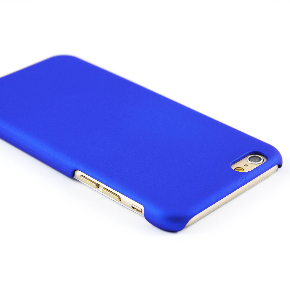 Luxusní kryt Soft Touch pro iPhone 6/6S Barva: Modrý