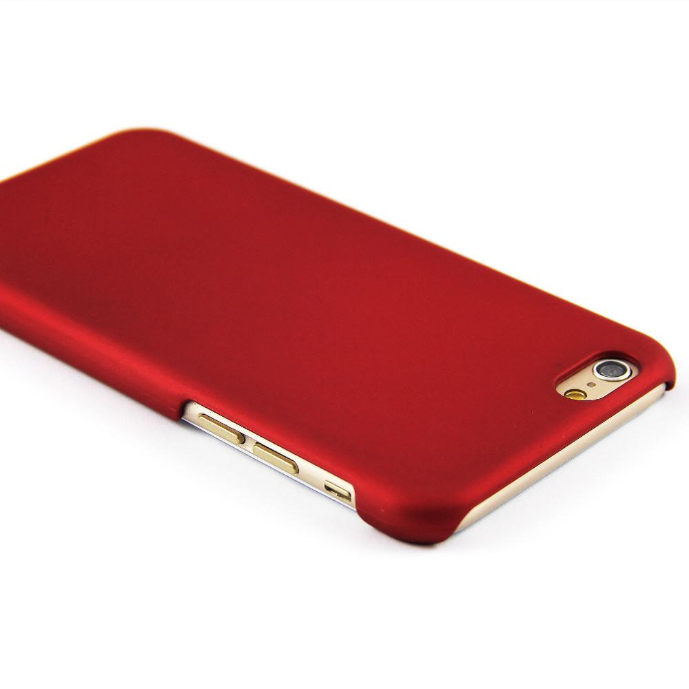 Luxusní kryt Soft Touch pro iPhone 6/6S Barva: Červený