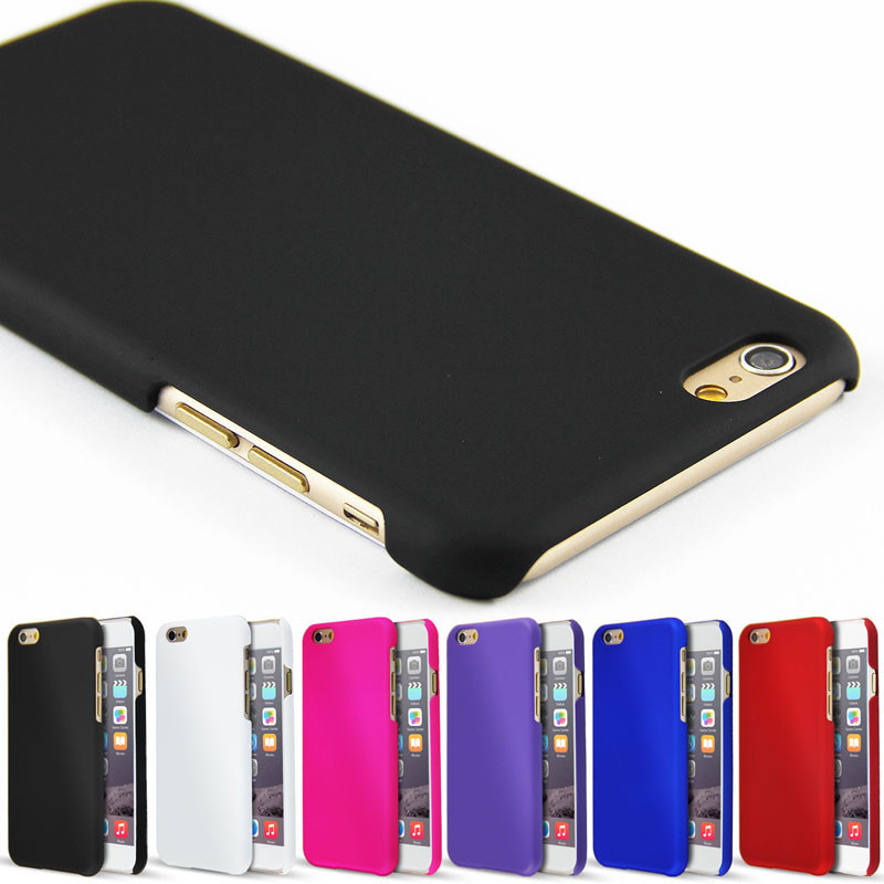 Luxusní kryt Soft Touch pro iPhone 6/6S Barva: Černý