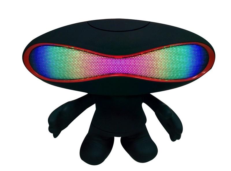Bluetooth reproduktor Rugby Boy 2v1 s podsvícením Barva: Černý