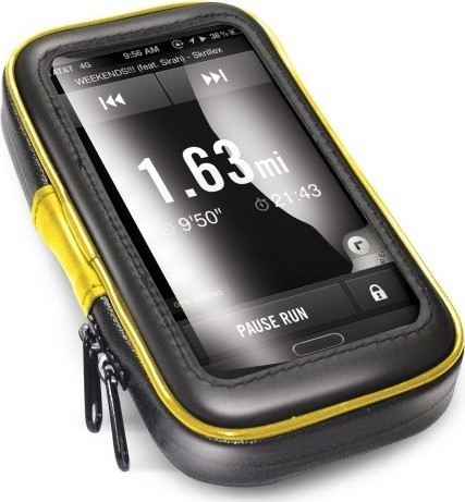 """Voděodolný držák CELLY FLEXBIKE pro až 5,7"""" telefony a navigace k upevnění na řídítka kola nebo motorky"""