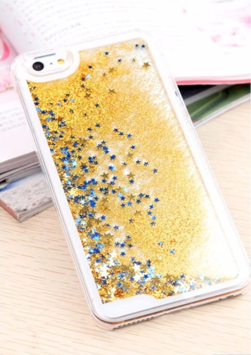 Kryt Sand Stars pro iPhone 5/5S Barva: Zlatý