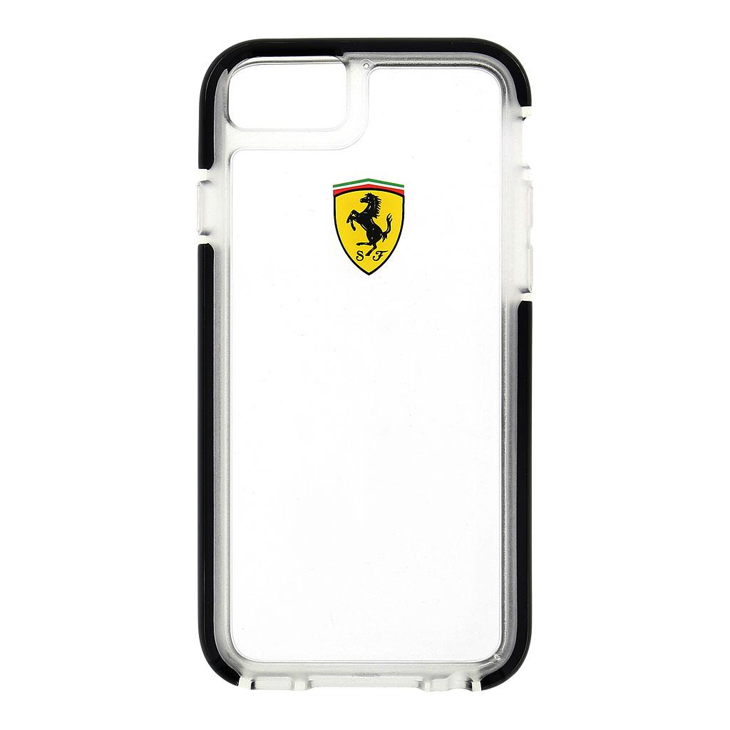 Kryt Ferrari Shockproof Hard Case Transparent/Black pro iPhone 6/6s