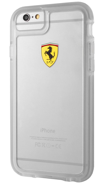Kryt Ferrari Shockproof Hard Case Transparent/Red pro iPhone 6/6s
