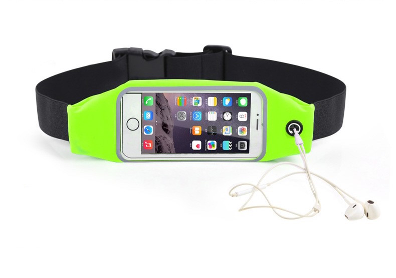 """Sportovní voděodolné pouzdro / ledvinka na pas na mobilí telefon - univerzální (4.7"""") Barva: Zeleno-žlutý"""