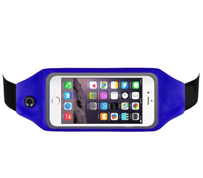 """Sportovní voděodolné pouzdro / ledvinka na pas na mobilí telefon - univerzální (4.7"""") Barva: Modrý"""