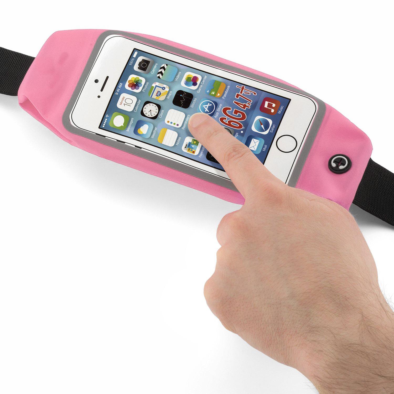 """Sportovní voděodolné pouzdro / ledvinka na pas na mobilí telefon - univerzální (4.7"""") Barva: Růžový"""