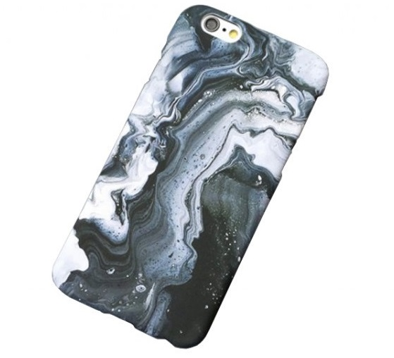 Kryt Clearo Abstract Marble - Grey pro iPhone 6/6S