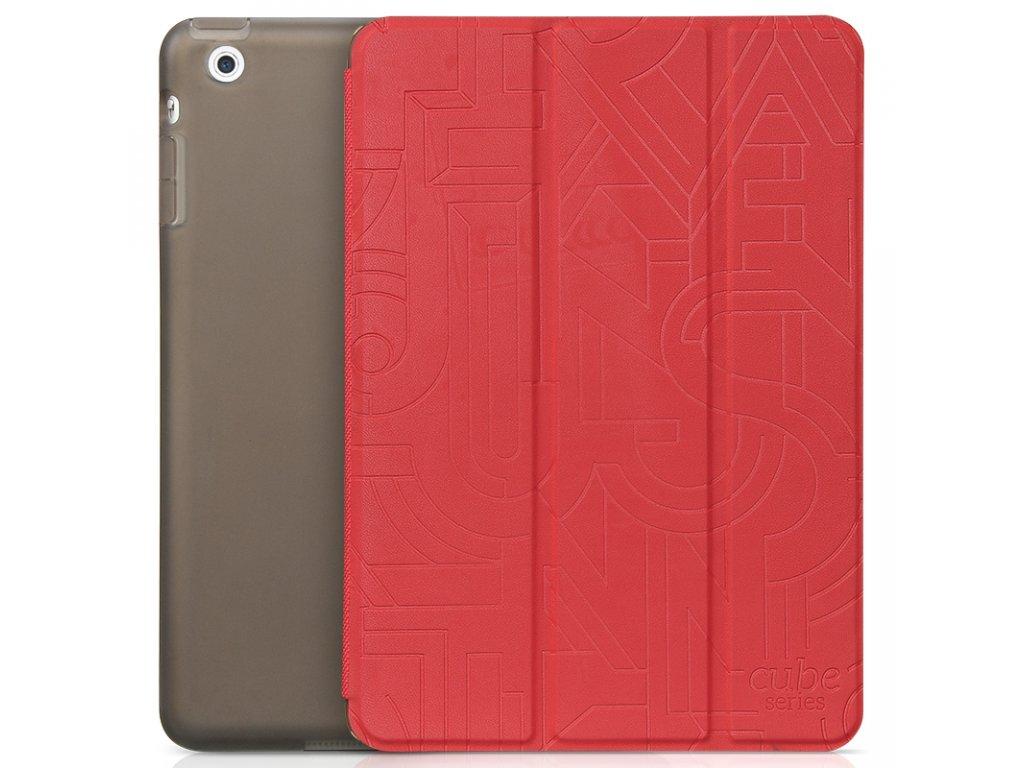 Pouzdro / kryt HOCO Cube Leather pro Apple iPad Mini/Mini retina 1 / 2 / 3 - red