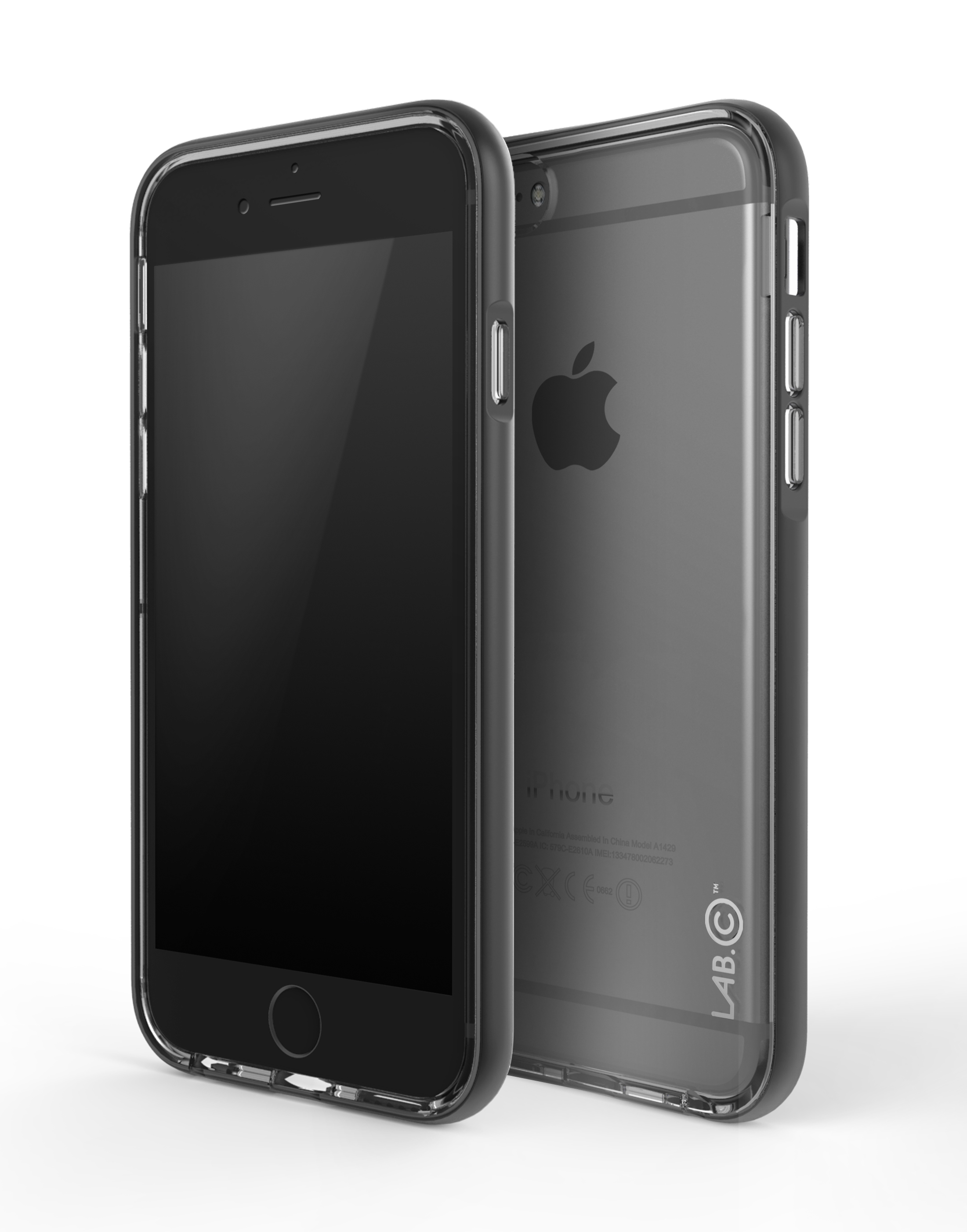 LAB.C Bumper Cushion kryt pro iPhone 6/6S Space Grey + vysoce kvalitní fólie na displej zdarma