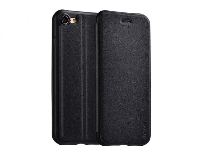 Pouzdro HOCO Nappa Leather – Black pro Apple iPhone 7