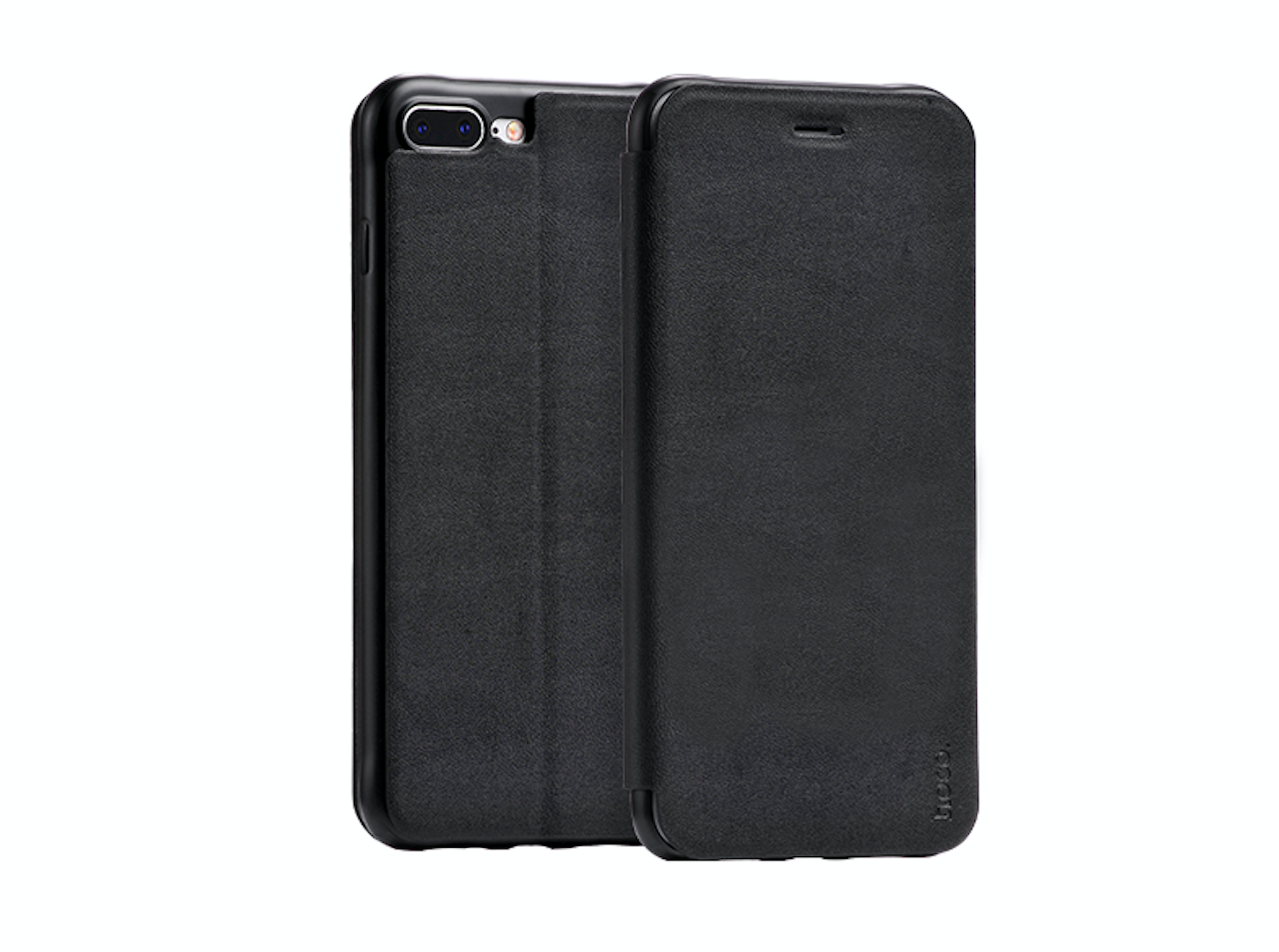 Pouzdro HOCO Nappa Leather – Black pro Apple iPhone 7 Plus