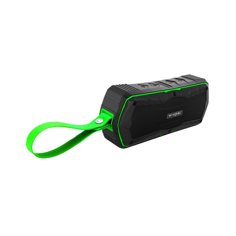 Voděodolný reproduktor W-King™ S9 X-Bass outdoor s Bluetooth 4.0, NFC, Power Bank Barva: Zelený