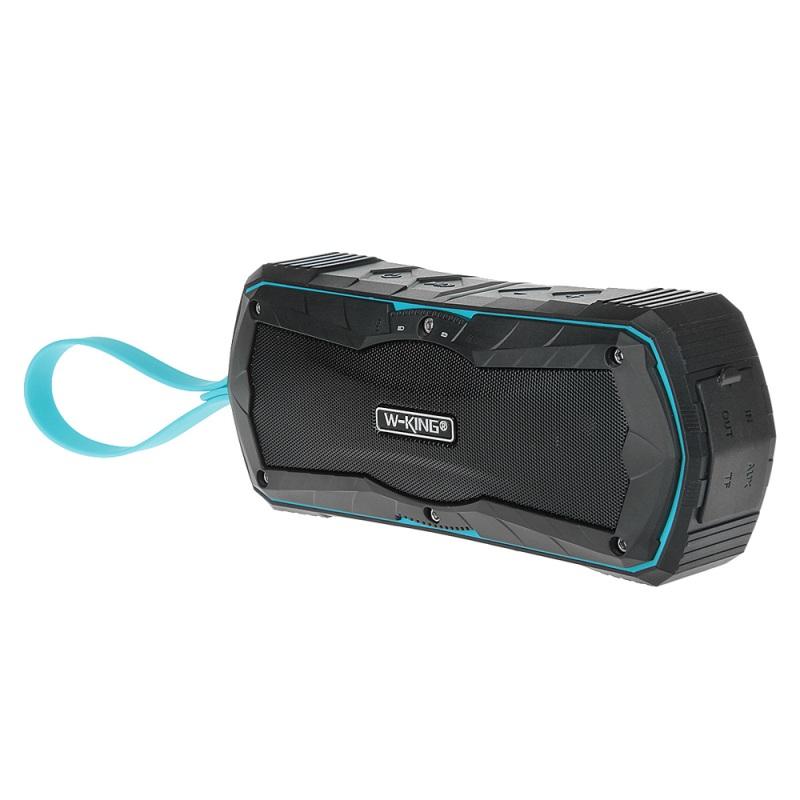 Voděodolný reproduktor W-King™ S9 X-Bass outdoor s Bluetooth 4.0, NFC, Power Bank Barva: Modrý