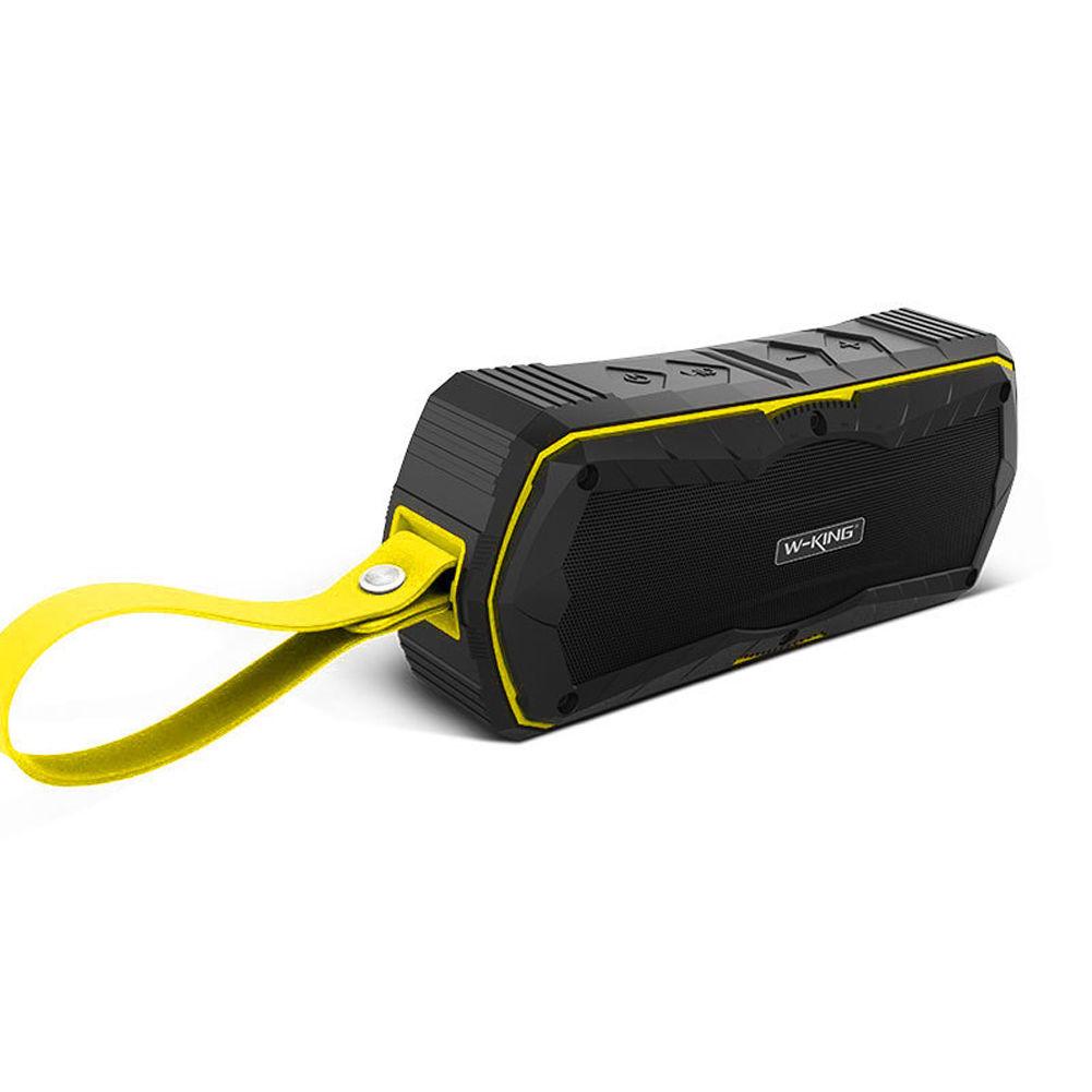 Voděodolný reproduktor W-King™ S9 X-Bass outdoor s Bluetooth 4.0, NFC, Power Bank Barva: Žlutý