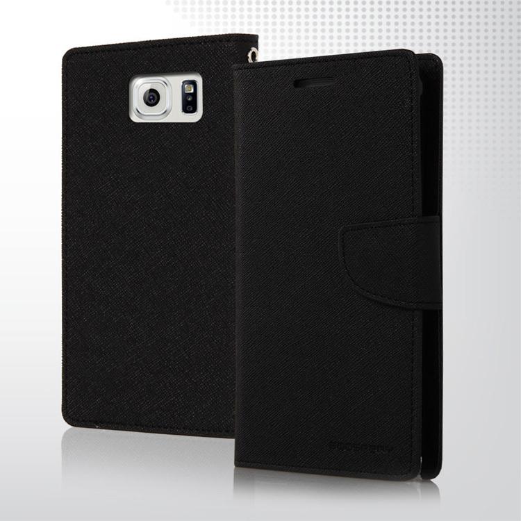 Pouzdro GOOSPERY pro Samsung Galaxy S6 EDGE Plus Barva: Černý
