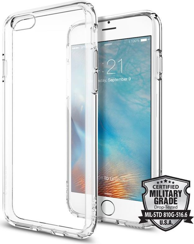 Kryt Spigen Ultra Hybrid, crystal clear - pro iPhone 6/6s