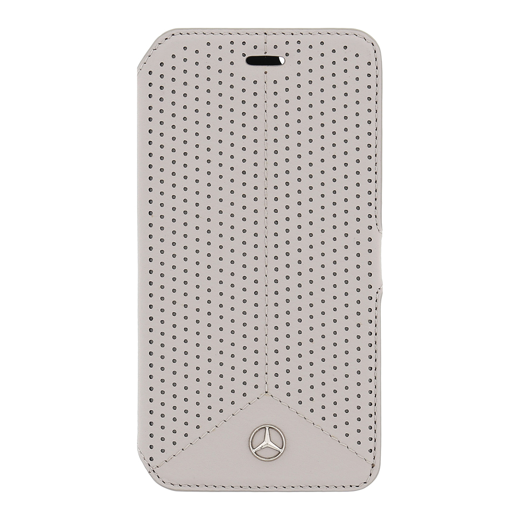 Pouzdro Mercedes Book Perforated Grey pro iPhone 6/6S