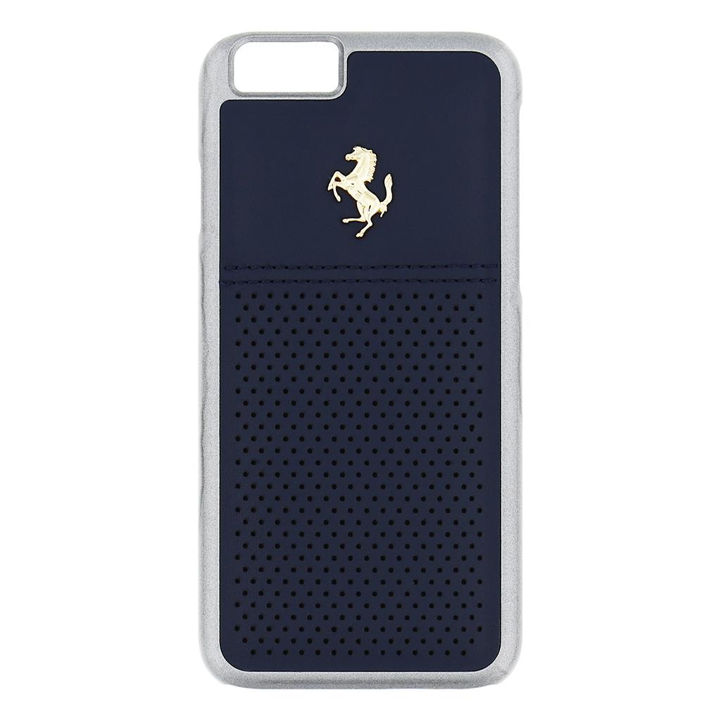 Kryt Ferrari GTB Leather Hard Case Blue pro iPhone 6/6S